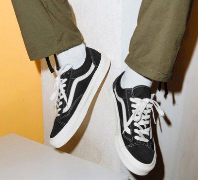 VANS Og Old Skool Lx VAULT 休閒運動 滑板鞋 黑 VN0A4P3XOIU 男女鞋