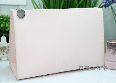 【飛飛工作室】GIVENCHY紀梵希 淺粉色霧面化妝包/手拿包