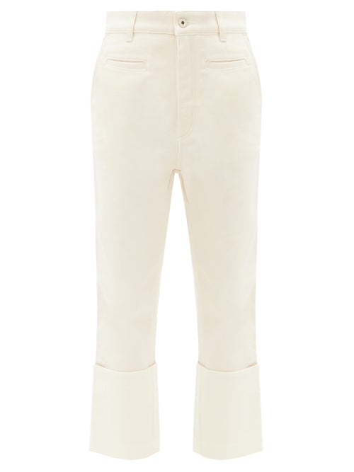 Loewe - Fisherman Turn-up Cropped-leg Jeans - Womens - Ivory