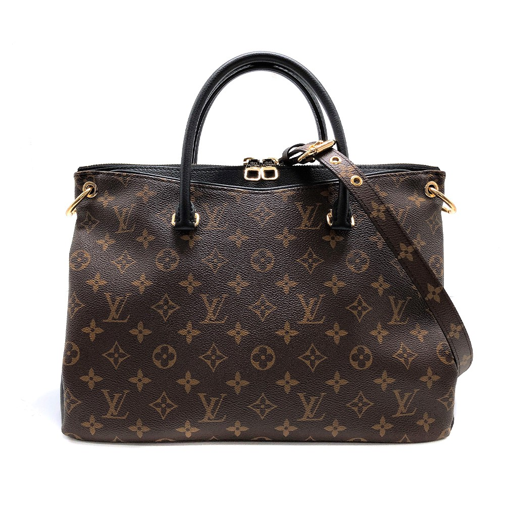 Louis Vuitton Monogram PALLAS MM 帆布手提包(M42756-黑)