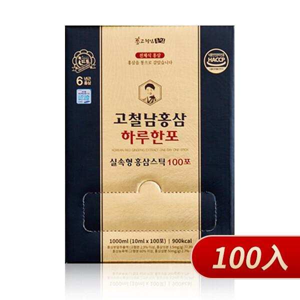 高鐵男紅蔘黃金飲100入(家庭號)