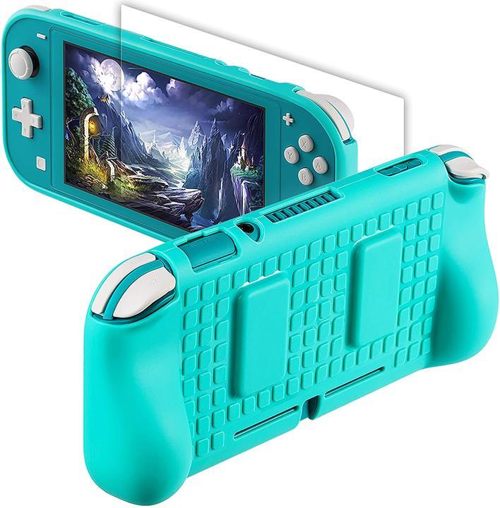 【美國代購】Nintendo Switch Lite的保護手柄盒-NSL保護蓋外殼Switch Lite配件套件 青綠色