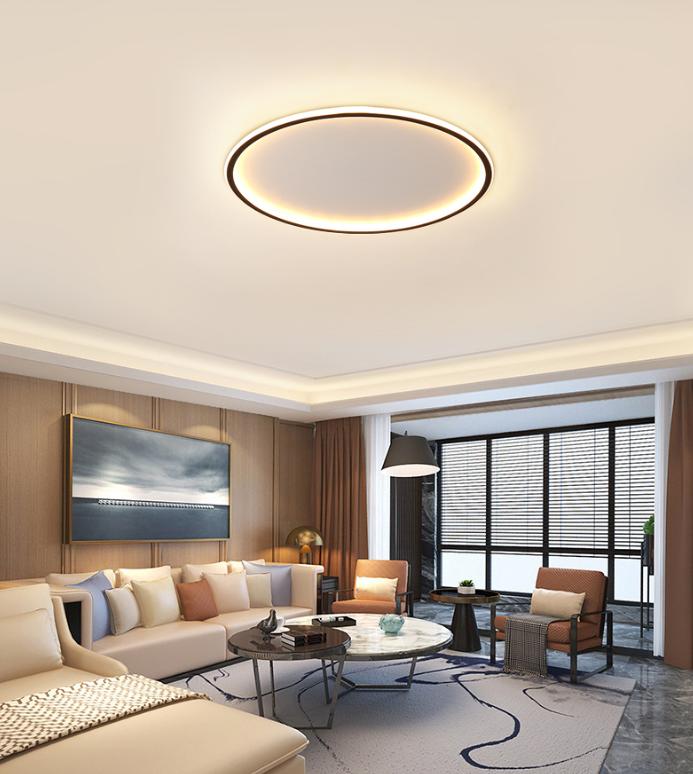50cm 單色光 燈 燈具 吸頂燈 臥室燈 簡約圓形 超薄客廳燈 現代書房燈 北歐家用溫馨浪漫房間燈