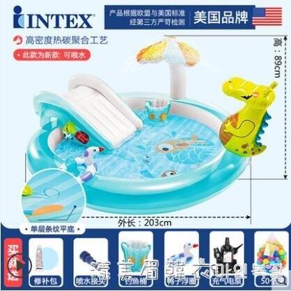 2021搶先款 嬰兒童充氣游泳池家庭大號海洋球池沙池家用寶寶噴水戲水池 NMS漾美眉韓衣 新年狂歡