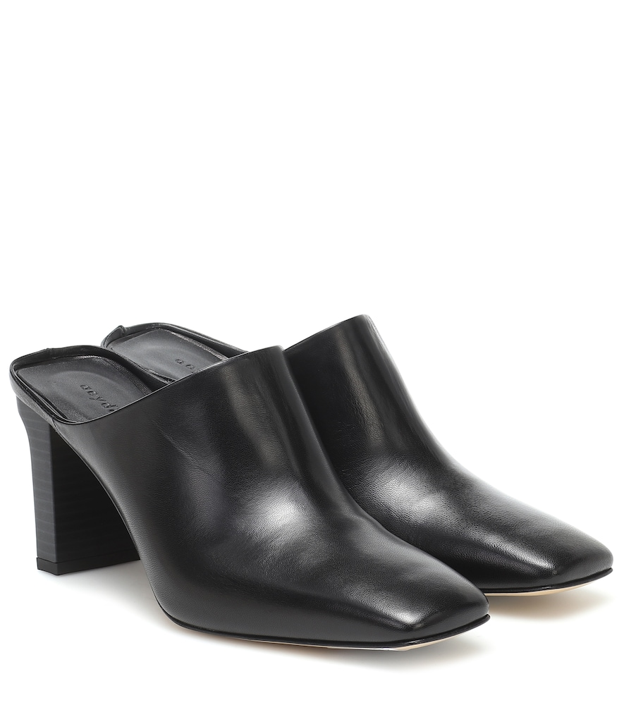 Edith leather mules