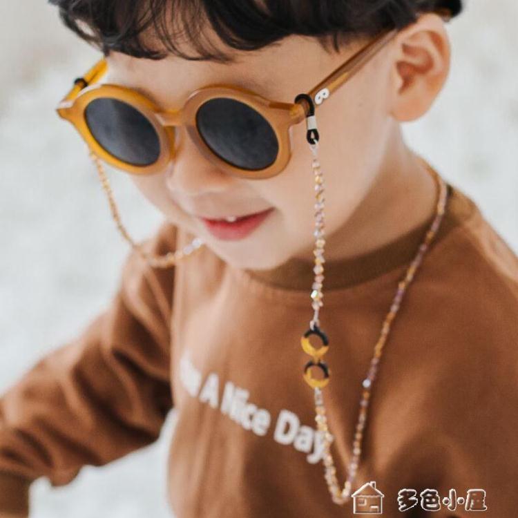 2021搶先款 眼鏡鍊韓版蠟繩兒童水晶眼鏡鍊條手工運動休閒防滑防丟失復古眼鏡繩子 多色小屋 新年狂歡
