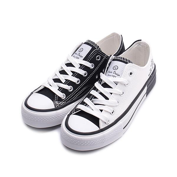 ARNOR 雙色印字帆布鞋 白黑 ARWC02399 女鞋