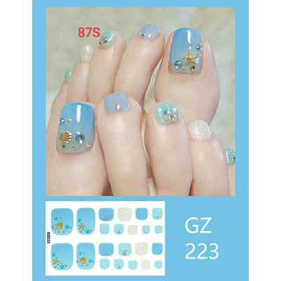 87S.全新 (GZ223)美甲貼片日韓流行時尚 美甲貼紙 指甲貼 環保防水持久貼紙 輕鬆拆卸