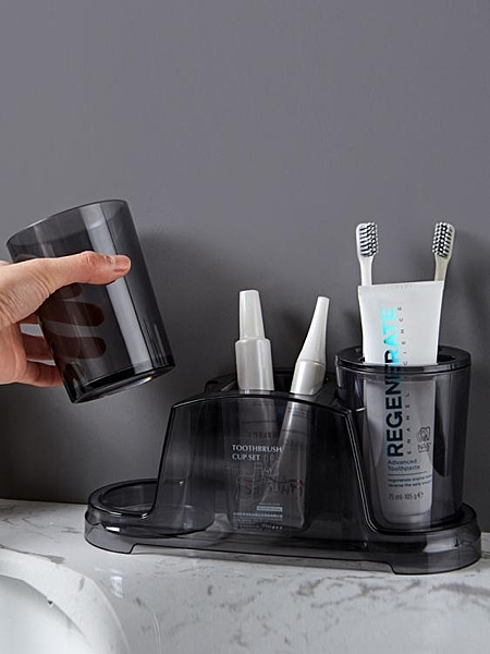 牙刷架衛生間牙膏牙刷置物架情侶創意牙杯浴室塑料牙具漱口杯牙刷架套裝