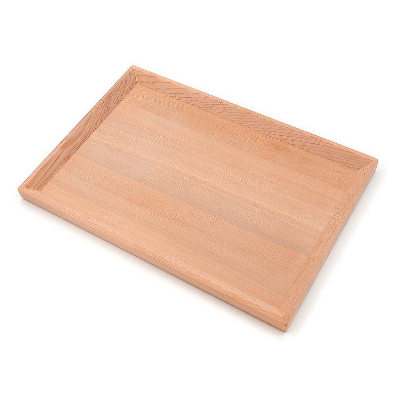 台灣檜木多用途托盤-長方形|居家生活小物收納置物盤,實木淺餐盤