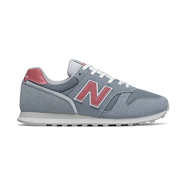 New Balance 373系列女款灰色x紅復古休閒鞋-NO.WL373DD2