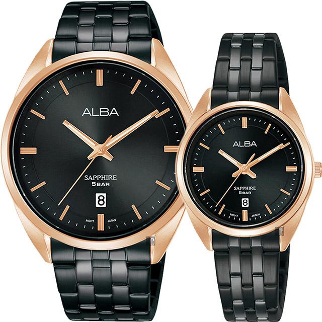 ALBA 雅柏簡約設計情侶手錶 對錶 VJ42-X303SD+VJ22-X323SD(AS9L04X1+AH7V42X1)