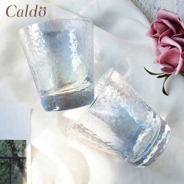 【Caldo卡朵生活】迷幻質感家用耐熱玻璃水杯