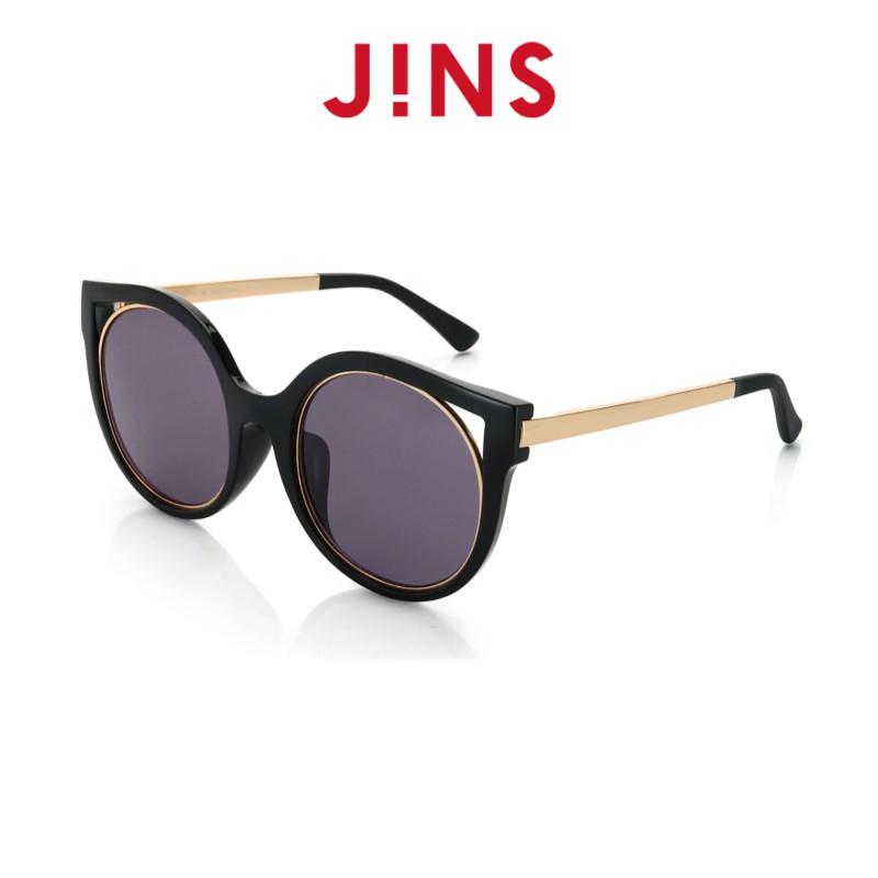 【JINS】 經典框型輕量墨鏡(特AURF17S870)黑色