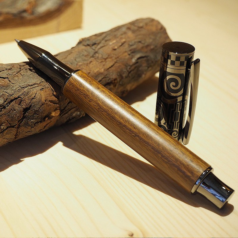 綠檀木王者磁式鋼珠筆 │ 客製 │ 刻字 │ 送禮 │ 情人節禮物