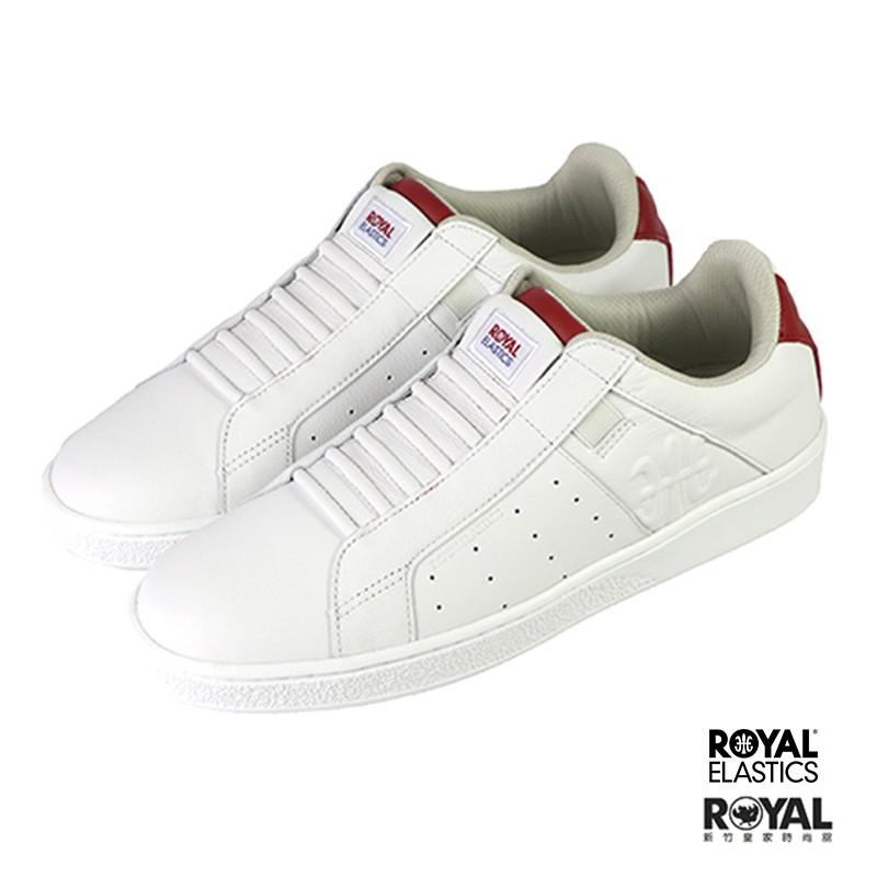 Royal Elastics Genesis 白色 皮質 套入 運動休閒鞋 女款 NO.J0515【新竹皇家 】
