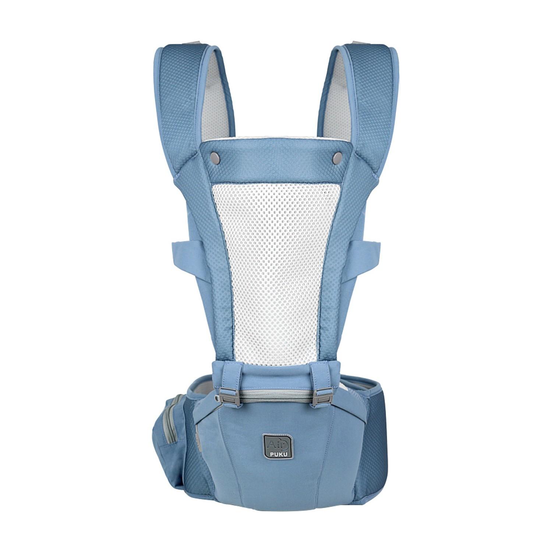 PUKU 藍色企鵝 - Lite Air腰凳揹巾-牛仔藍