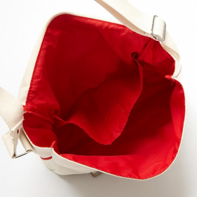 法國有機棉MESSENGER BAG - 紅 法國有機棉MESSENGER BAG - 紅