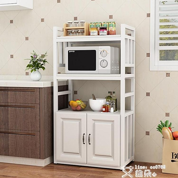 廚房收納架 廚房置物架落地式多層微波爐烤箱收納架家用多功能用品大全儲物柜 艾維朵 DF