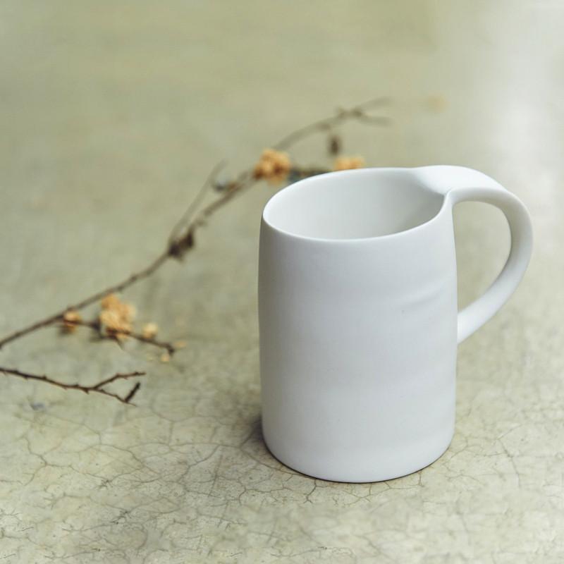水波馬克杯 - 白色