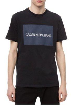 CK Calvin Klein Jeans 短袖 T恤 現貨 四方格 LOGO 黑色