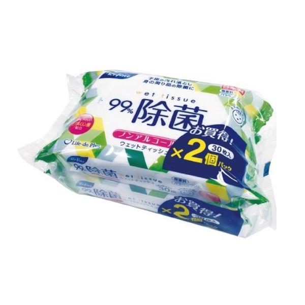 日本 Life-do.Plus Refine 抗菌柔濕巾30抽2包(日本製)【麗兒采家】
