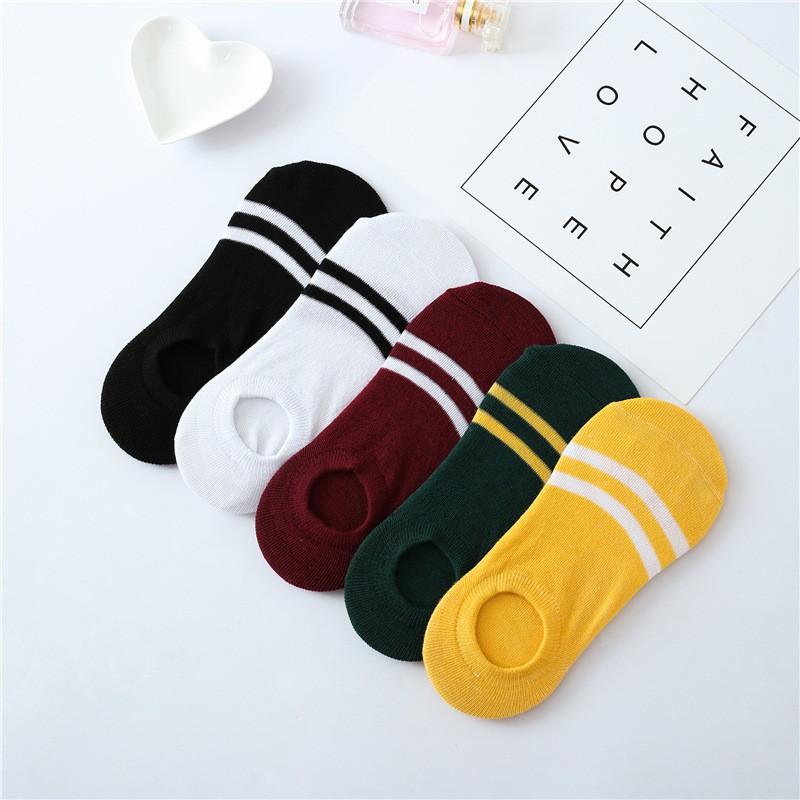 襪子 短襪 隱形襪 船襪 女生 淺口彈力 兩條槓 韓國襪子 韓妞必備 豆豆襪