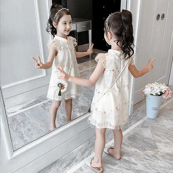 女童夏裝漢服裙子童裝旗袍女孩公主裙洋氣兒童洋裝夏季-年終穿搭new Year