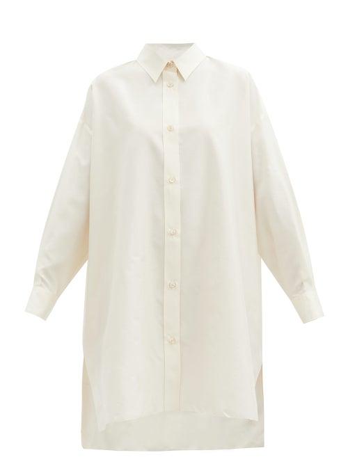 Isabel Marant - Macali Silk Tunic Shirt - Womens - Ivory