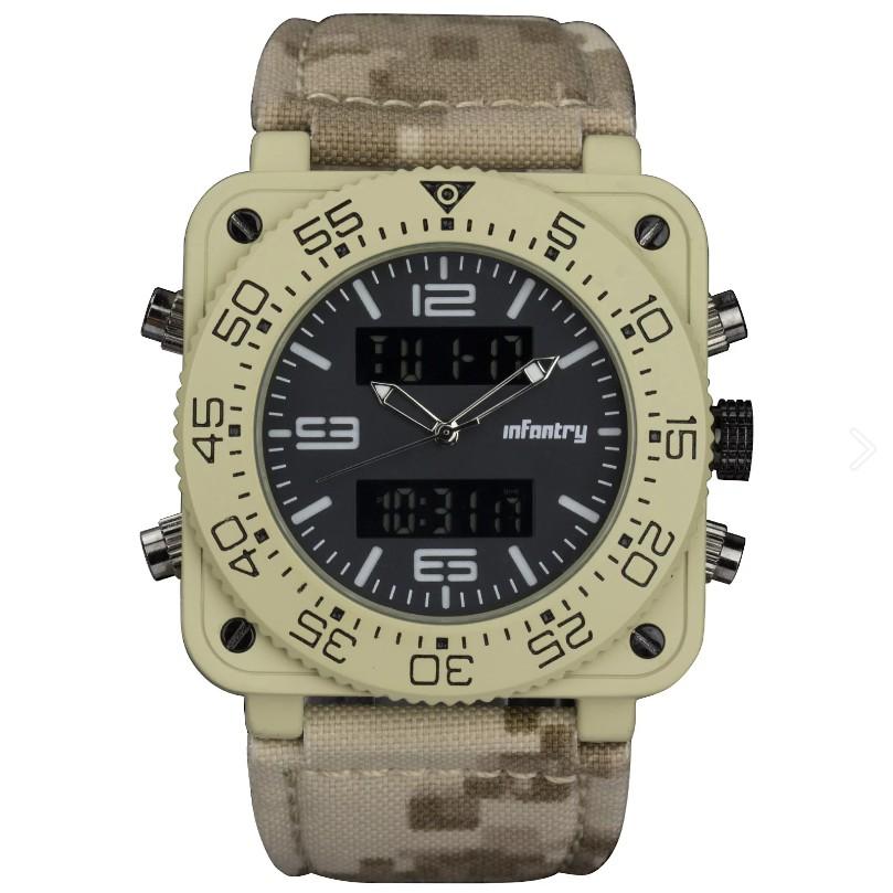 【Infantry】極地生存系列 - 沙漠迷彩 X 迷彩手工錶帶|手錶|軍錶|男錶