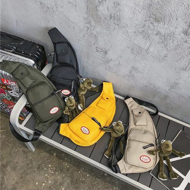 FOFU-單肩包韓版時尚帥氣純色單肩斜跨包【08B-T0191】