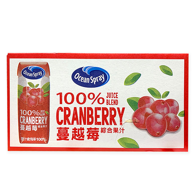 Ocean Spray 100% 蔓越莓綜合果汁 250毫升X18入