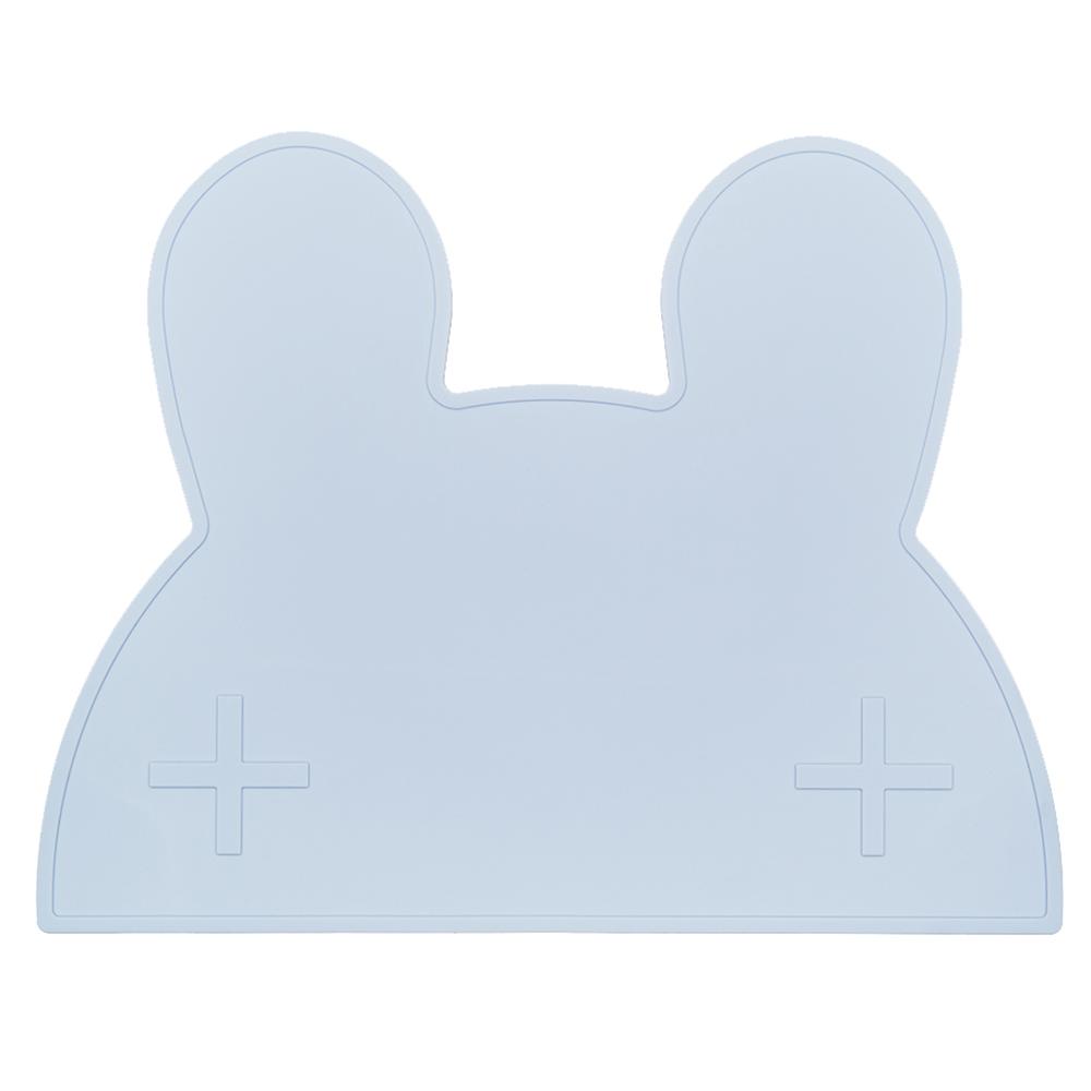 澳洲We Might Be Tiny 矽膠防滑餐墊兔寶寶-粉藍