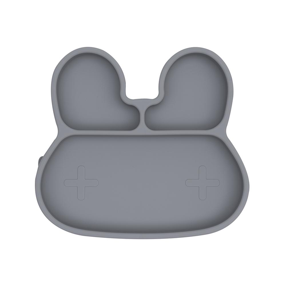 澳洲We Might Be Tiny 矽膠分隔餐盤兔寶寶-深灰