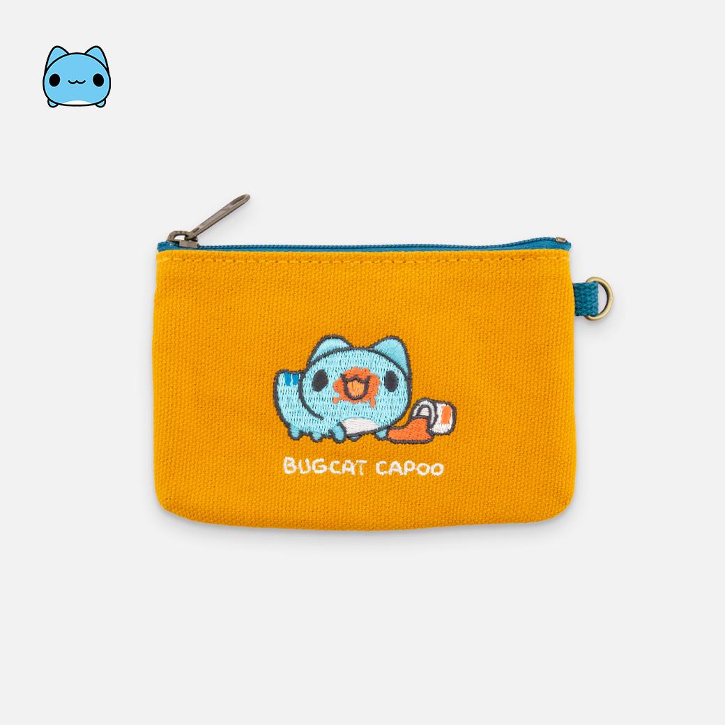 貓貓蟲咖波_刺繡帆布零錢包-咖波吃果醬