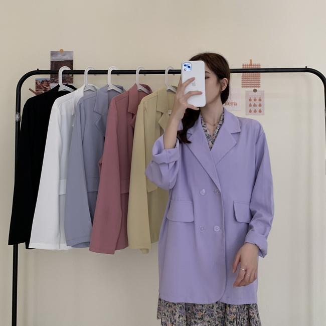 FOFU-西裝外套韓版薄款寬鬆少女感西裝外套【08G-F1162】