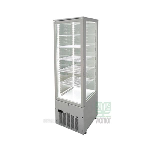 JCM 268公升 冷藏展示櫃 SC-268F 直立四面玻璃 適用 KTV、酒吧、超市