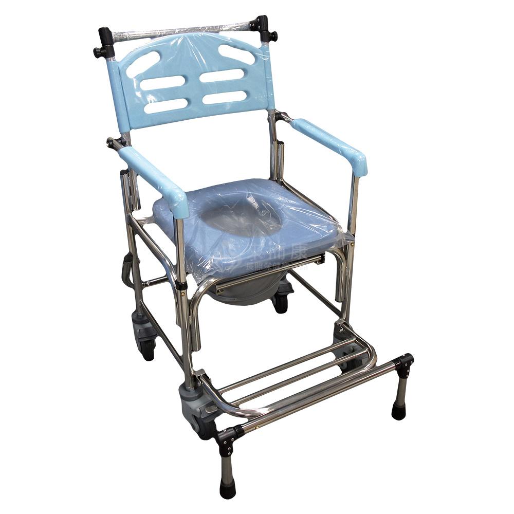 來而康 行健 不銹鋼附輪附腳(可拆手)不可收合便椅(ST-B2359)