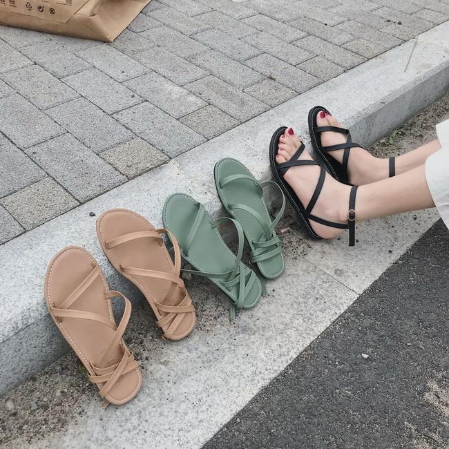 FOFU-涼拖鞋簡約時尚氣質百搭套趾平底休閒兩穿涼拖鞋【02S12487】