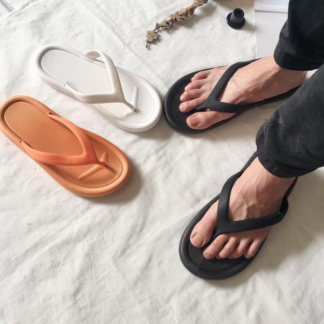 FOFU-拖鞋韓系簡約室外防水純色夾腳人字拖鞋【02S12474】