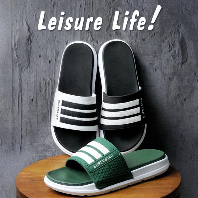 FOFU-拖鞋加厚鞋底室內塑膠防滑浴室涼拖鞋【02S12463】