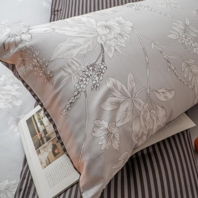 台灣製100%天絲 薄床包兩用被組合 鐵樹開花【棉床本舖】