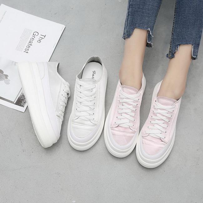 FOFU-休閒鞋真皮綁帶素面圓頭厚底休閒鞋【02S12532】
