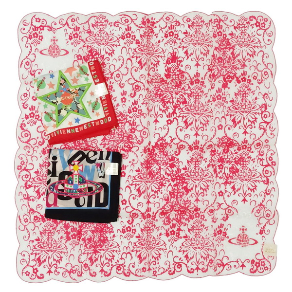 Vivienne 領巾/手帕 日本製/100%純棉 全新現貨附信封袋