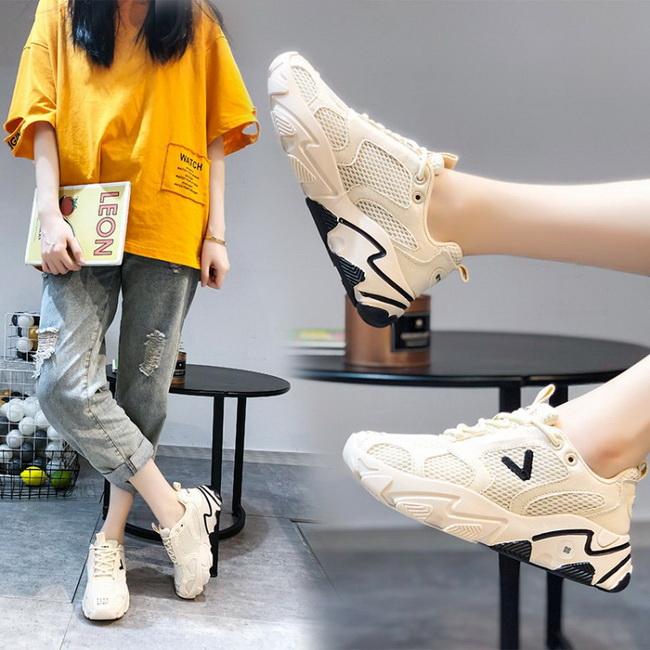FOFU-休閒鞋休閒綁帶素面圓頭平底厚底運動休閒鞋【02S12544】