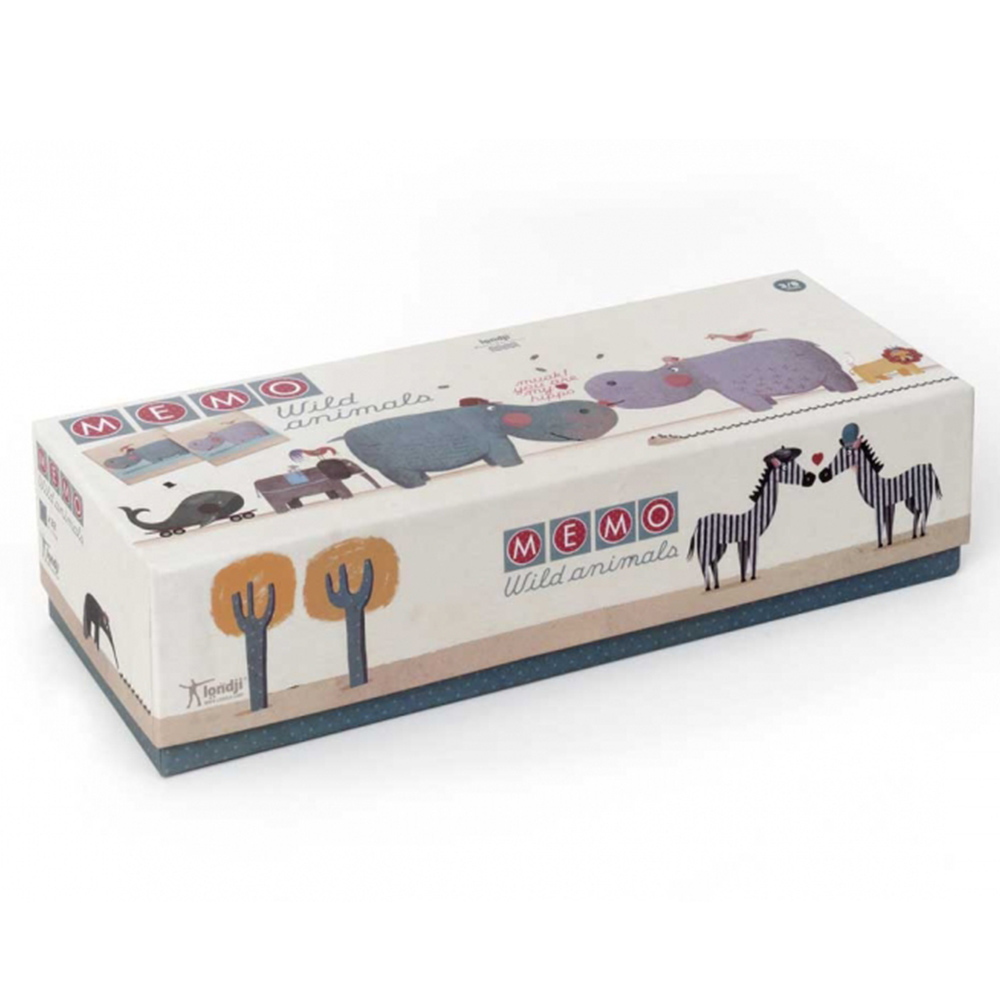西班牙Londji 記憶遊戲-荒野動物