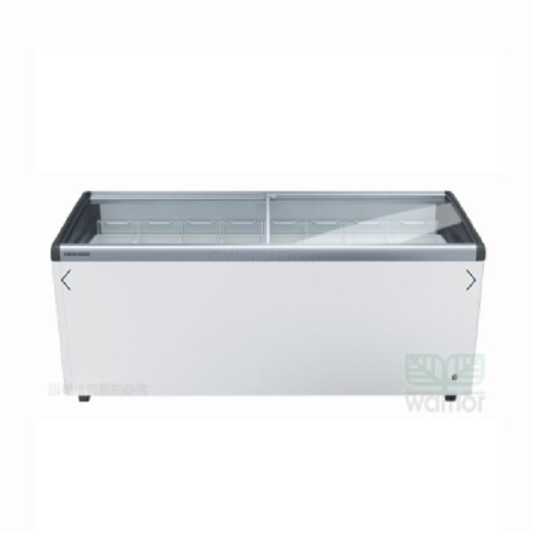 德國利勃 LIEBHERR 6尺3 弧型玻璃推拉冷凍櫃 408L  EFI-5653 附LED燈 110V  (不含安裝一樓簽收)