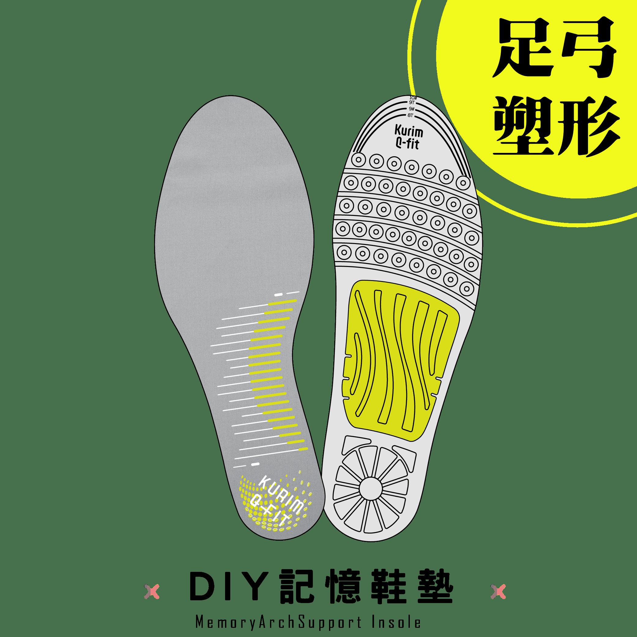 專利支撐塑形 DIY記憶鞋墊 防腳臭 舒緩減壓足部 足底筋膜炎 扁平足 不適