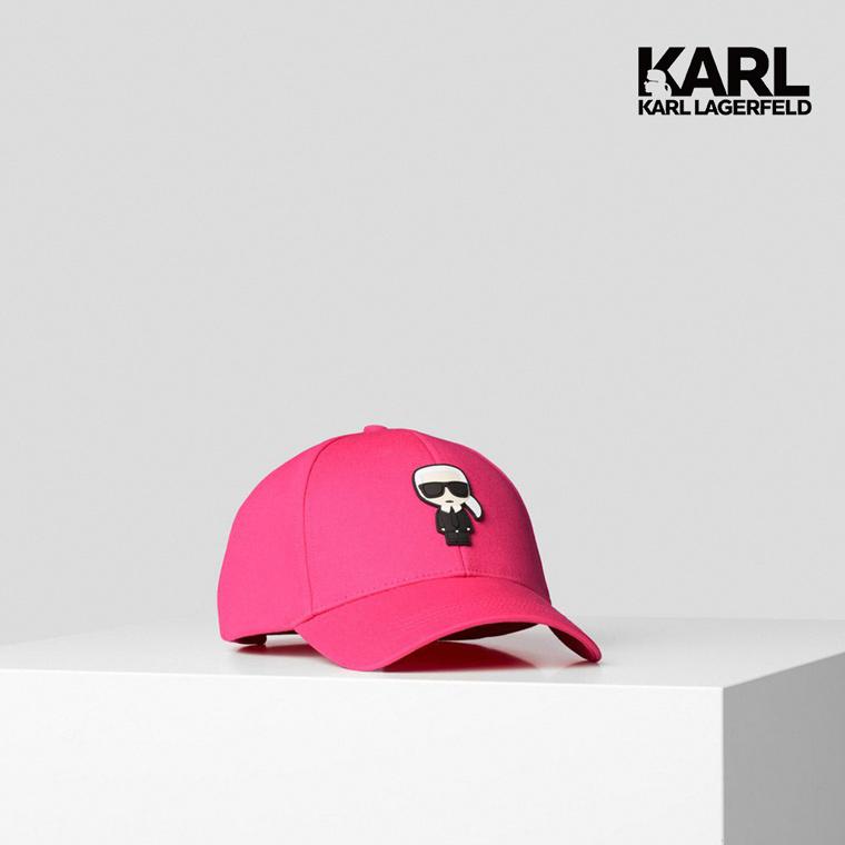 【KARL LAGERFELD】IKONIK棒球帽-桃紅