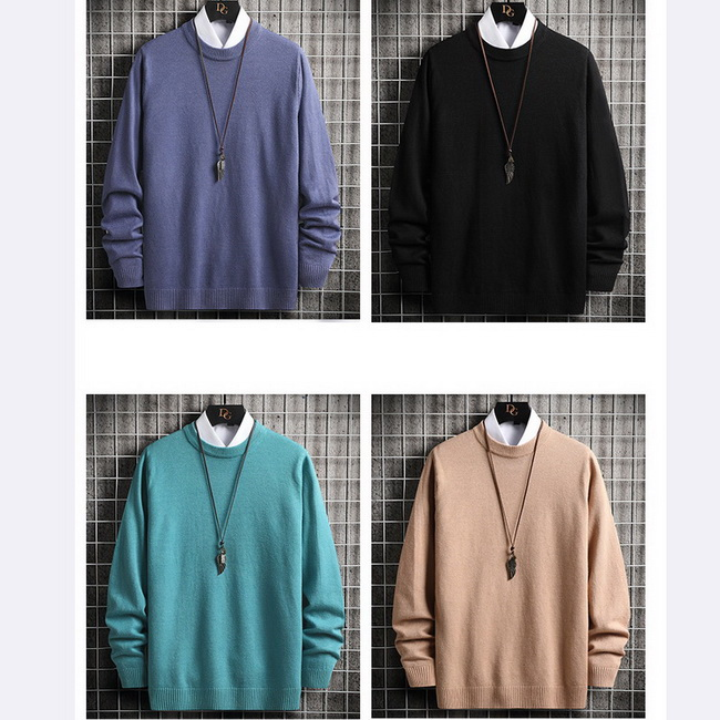 FOFU-長袖毛衣韓版個性素面寬鬆內搭針織長袖毛衣【08B-B2253】